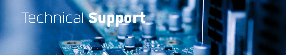 Image contains Technical Support text over a computer motherboard.