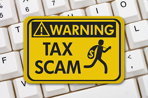 warning: tax scam image