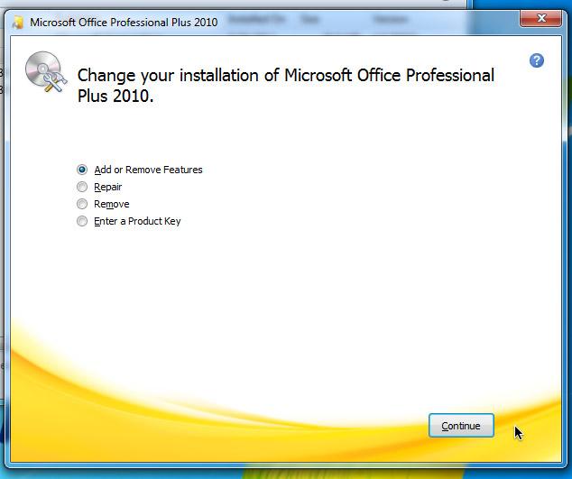 Ключ Microsoft Word 2010
