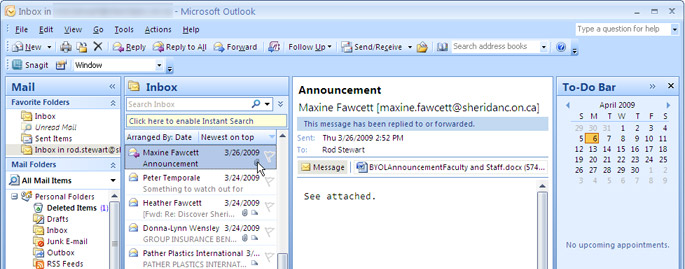 how to stop emails coming in outlook