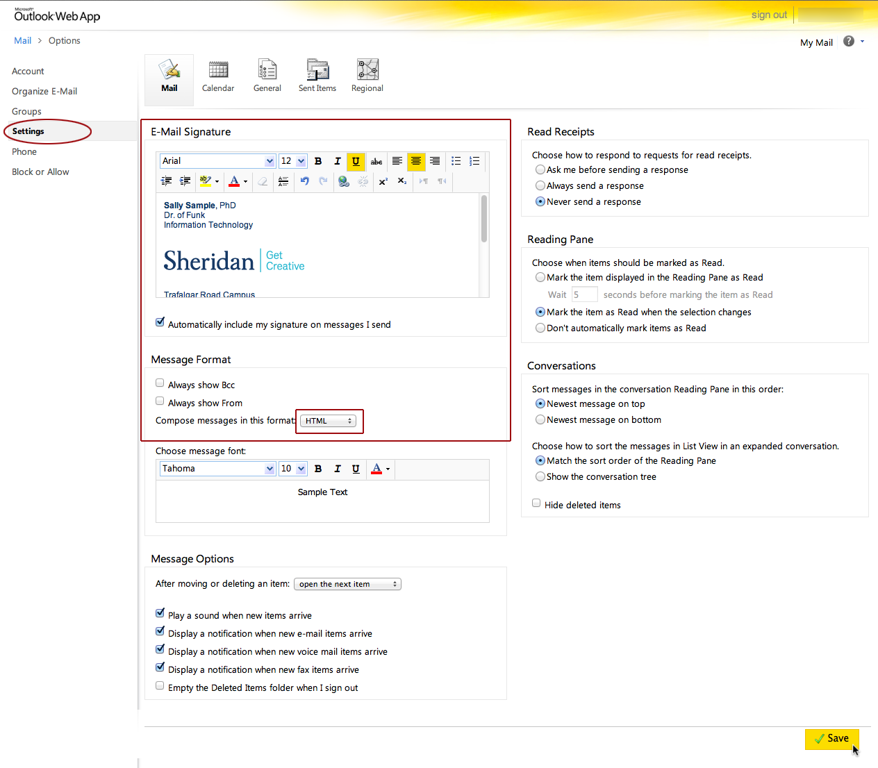 Outlook Web Acc... Picture In Email Signature Outlook Web App