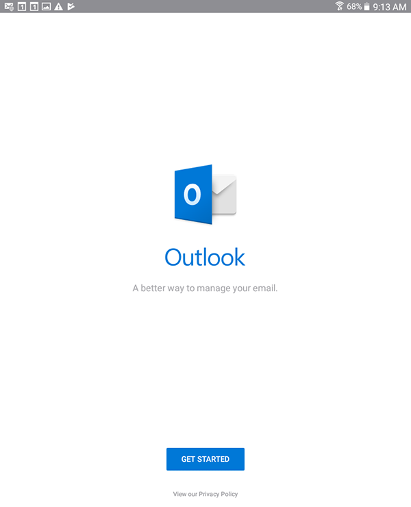 Student Email and Calendar - Configuring the Outlook App on an
