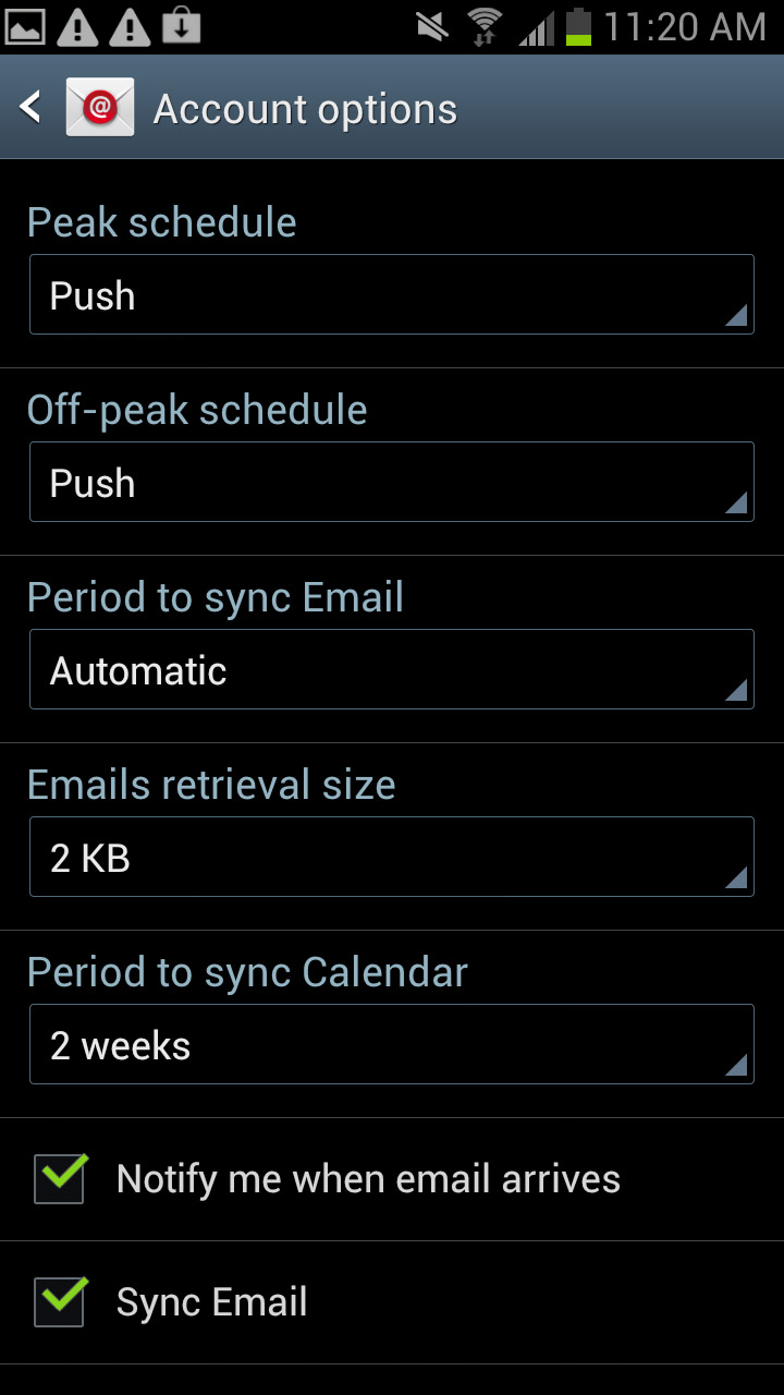 sheridan how to add email to android
