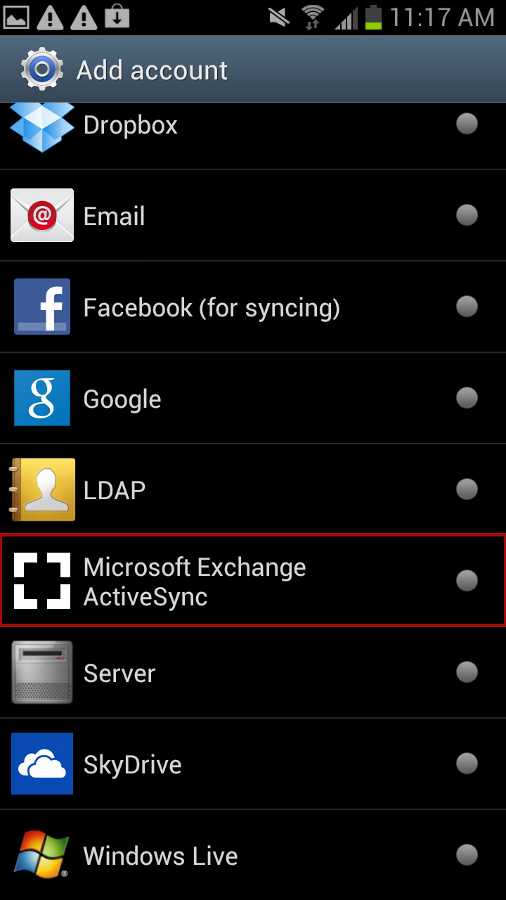 Phone Microsoft Exchange On Android Phone employee email calendar configuring an android device for your tap microsoft exchange activesync