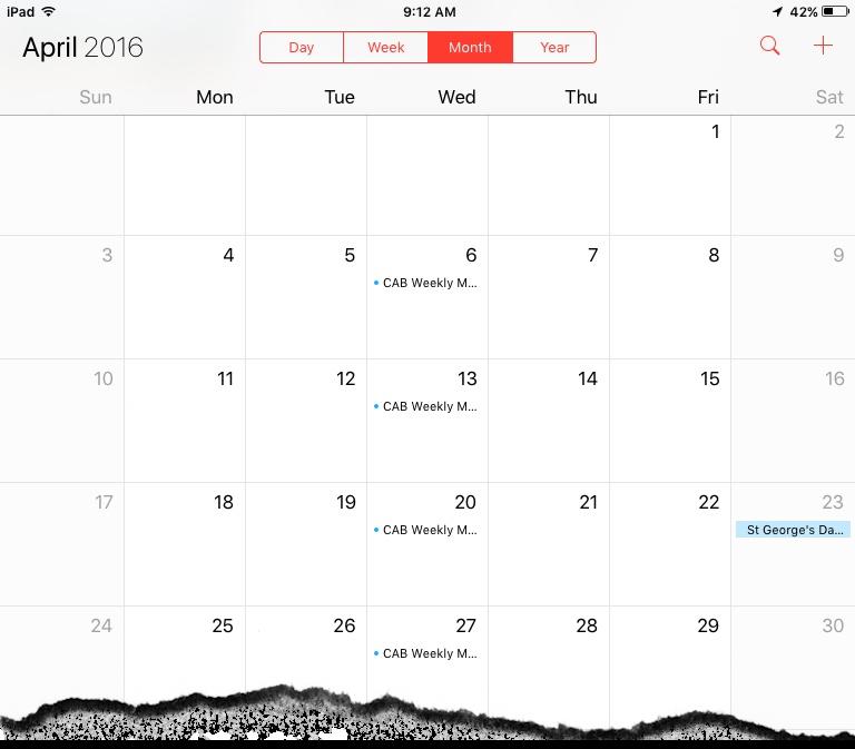 ios default calendar