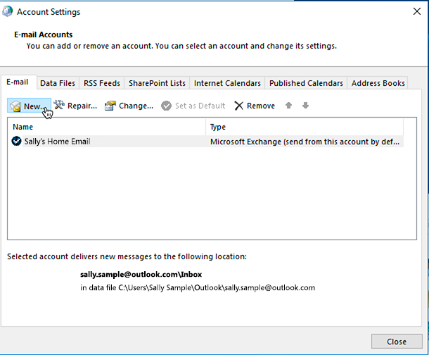 how to add another email address to greenacreslandscaping.ca account