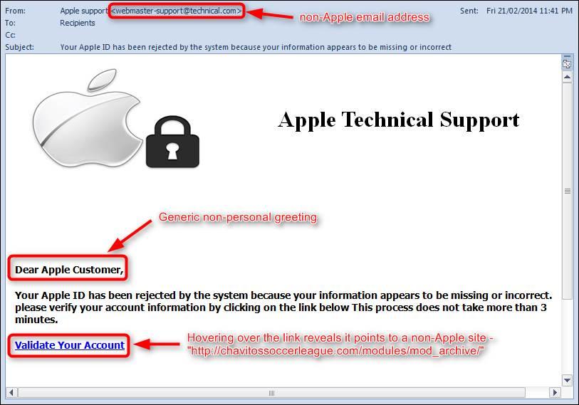 """Vaizdo rezultatas pagal užklausą """"phishing email examples"""""""