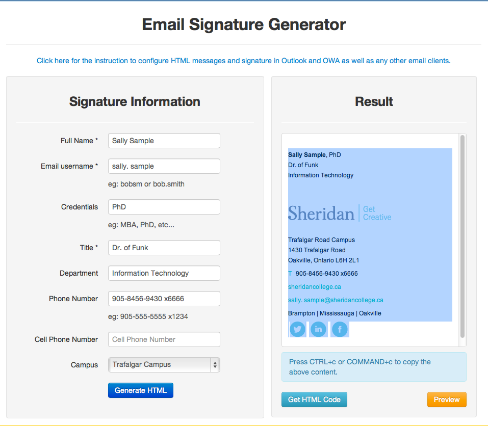 Employee Email & Calendar - Adding Sheridan's Corporate Signature ...