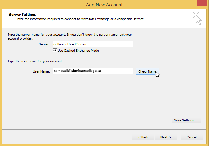 Student alumni email calendar configuring outlook - Office 365 server settings for outlook 2010 ...