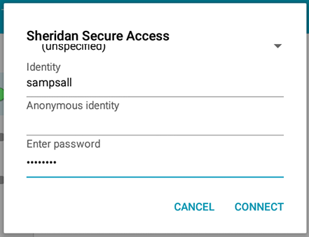 Networks and Connectivity - Connecting to Sheridan Secure Access