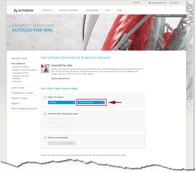 autodesk student free software