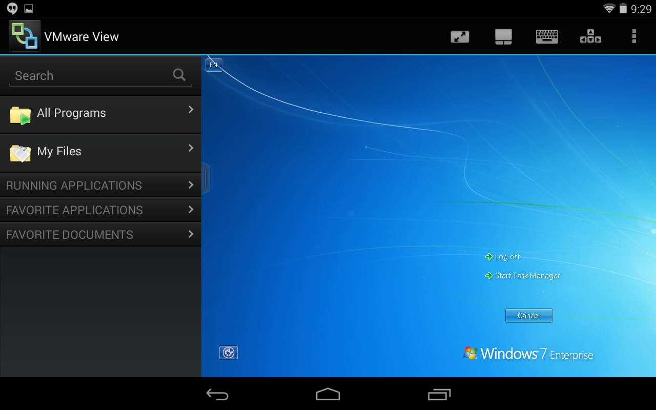 AppsAnywhere - Installing the VM Horizon View Client for Android