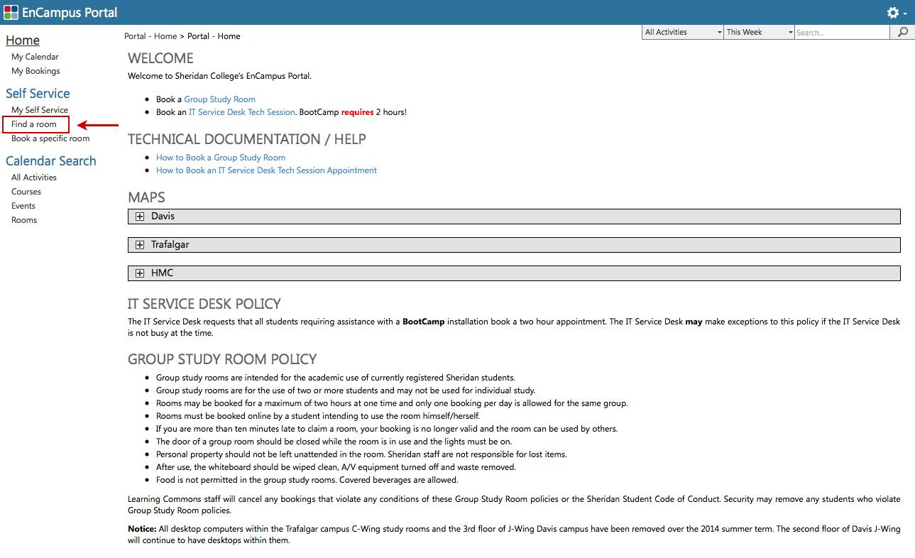 EnCampus Portal Page